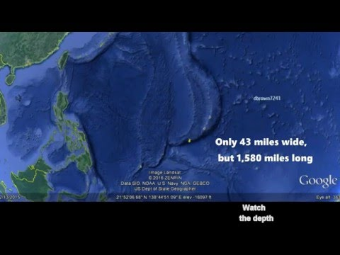 Mariana Trench -  7 miles straight down in the Ocean
