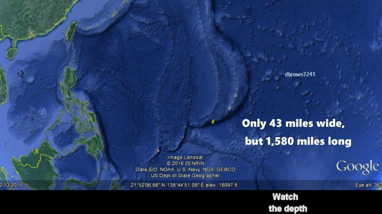 Mariana trench 7 miles straight down in the ocean youtube mariana trench 7 miles straight down in the ocean publicscrutiny Choice Image