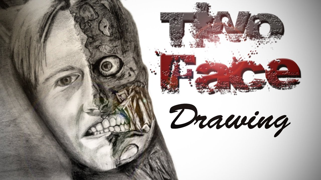 Two Face Drawing Finished Youtube