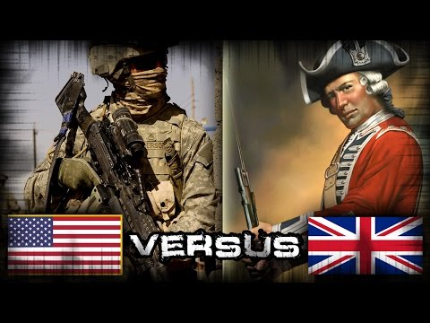 U S  Army vs British Redcoats 1/2 (Muskets vs  Modern Army - Call to