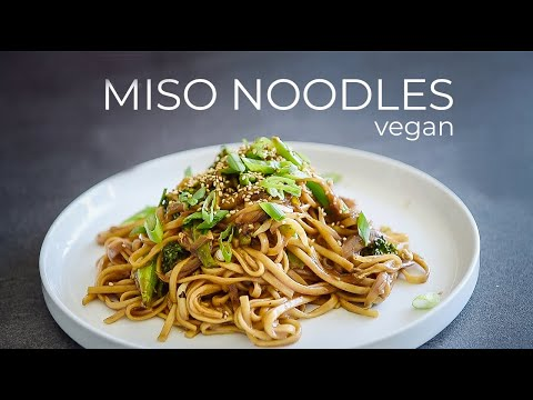 VEGAN MISO NOODLES RECIPE | HOW TO MAKE JAPANESE STYLE MISO UDON STIR FRY