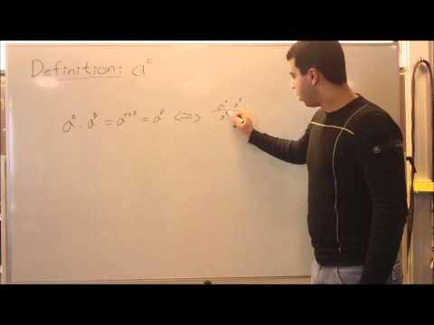 Video Matematik Potens med eksponenten 0 - YouTube