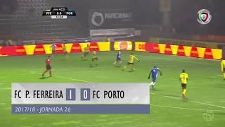 Resumo: Paços Ferreira 1-0 FC Porto (Liga 26ªJ)