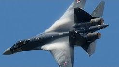 Paris Air Show 2013 - Su-35 vertical take-off + Air Show (HD)