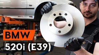 Kā nomainīt priekšējās bremžu diski BMW 520i (E39) [AUTODOC VIDEOPAMĀCĪBA]