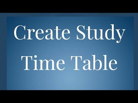 Education = Create Study Time Table !! Part 5 { Kailash Seervi Kag }