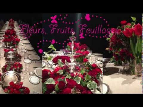 Decoration Florale Chemin De Table Par Fleurs Fruits Feuillages