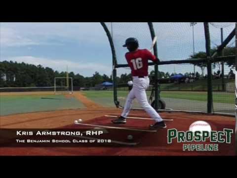 Kris Armstrong, RHP, The Benjamin School, Swing Mechanics at 200 FPS #TOS16