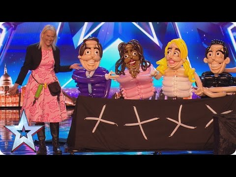 Betty Balloon blows the Judges' minds with her creations | Britain's Got More Talent 2017