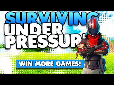 Surviving Under Pressure & Win More Games | Building Tips & Tricks | Fortnite Battle Royale
