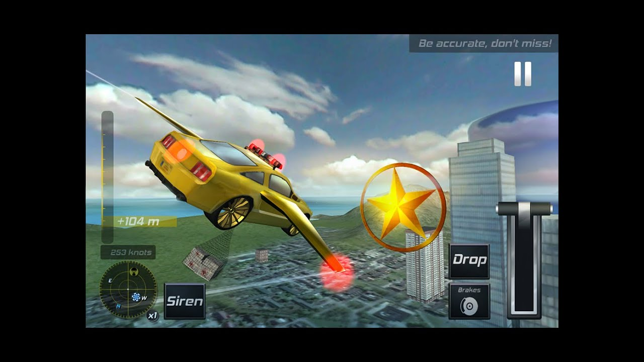 Flying Police Car Simulator 3d Android Gameplay Hd Youtube