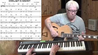 MOONLIGHT IN VERMONT - Jazz guitar & piano cover ( Karl Suessdorf )