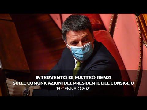 L'intervento di Matteo Renzi in Senato per la fiducia al Governo   19 gennaio 2021