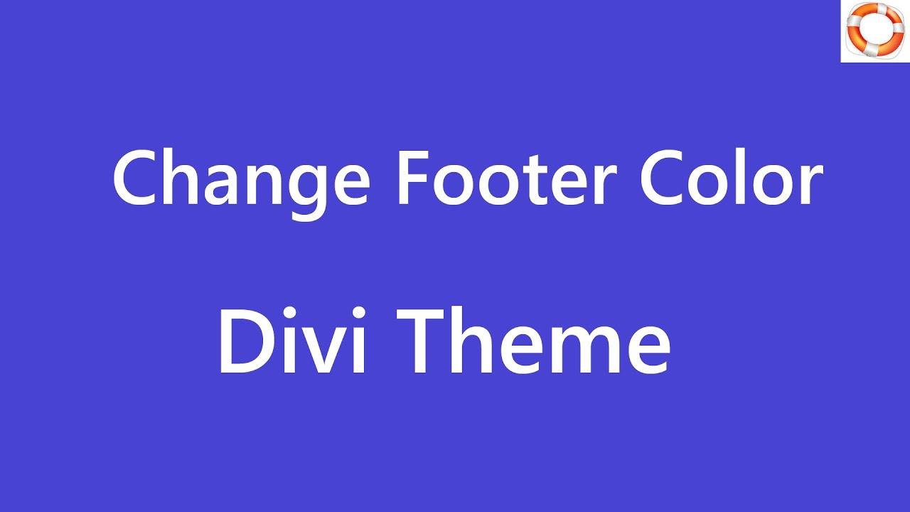 Divi Change Footer Bottom Color