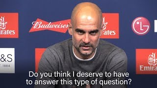 Pep Guardiola Infuriated By Financial Fair Play Question After FA Cup Win