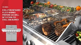 Nexgrill Evolution Infrared Plus 5-Burner Gas Grill w/ Stainless Steel Side Burner (720-0882A)