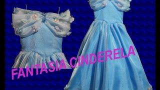 Fantasia Cinderela Nova Infantil – parte 1 – modelagem e corte
