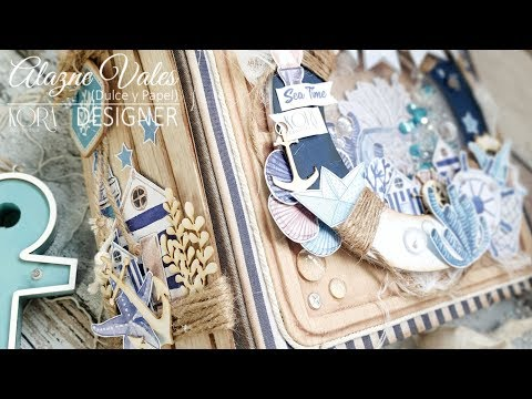 "Tutorial Album Scrap ""Sea time"" Kora projects"