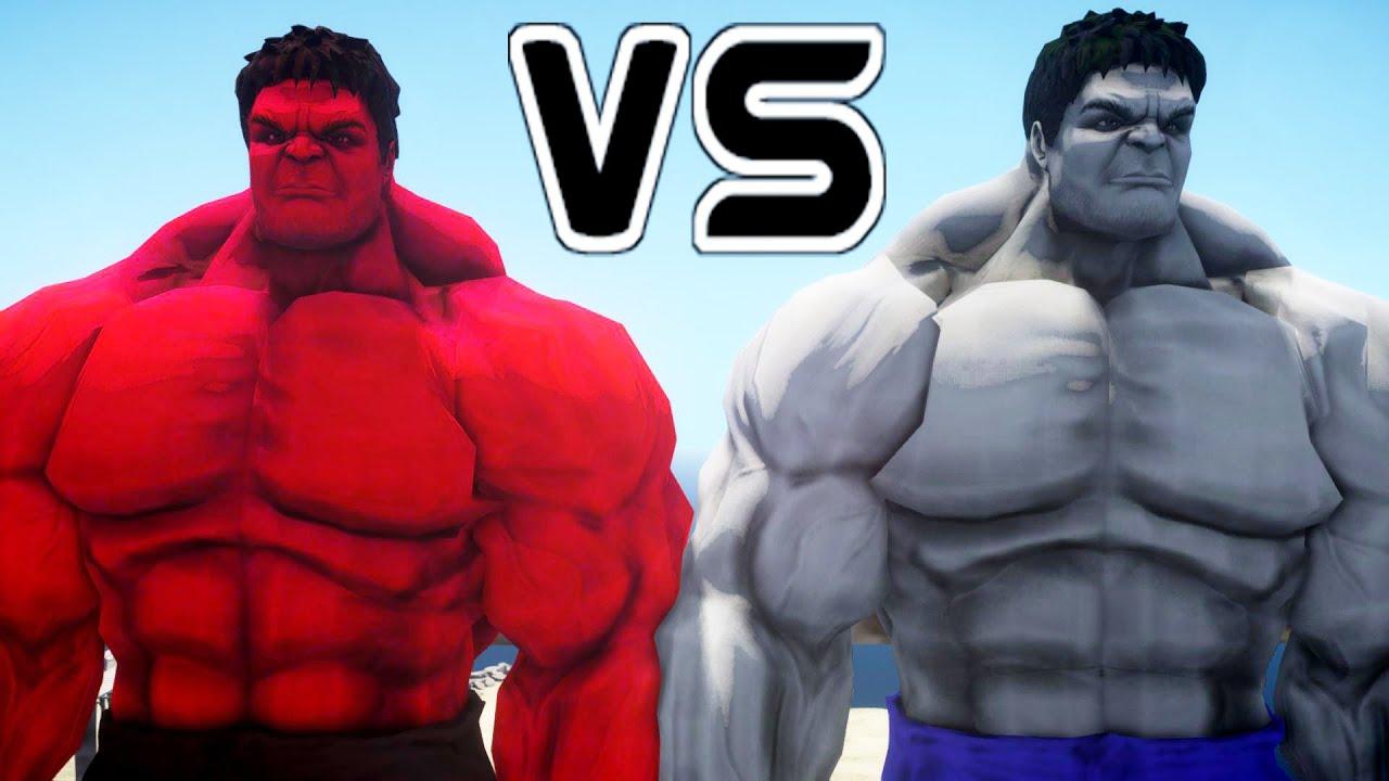 RED HULK VS GREY HULK - EPIC BATTLE - YouTube