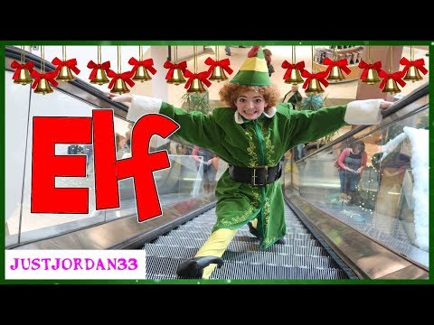 BUDDY THE ELF HOLIDAY DARES IN A MALL / JustJordan33