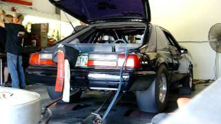 1000+ RWHP Foxbody Mustang on the dyno