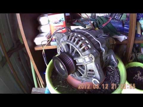 Alternator-motor + DIY Solar Panel