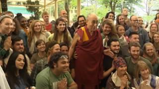 Далай-лама. Встреча с иностранными туристами