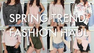 SPRING TRY ON HAUL | SPRING TRENDS 2017 | BEAUTYYBIRD