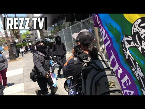 ANTIFA Terrorists DEFEND Pedophilia, ATTACK Anti-Pedo Protesters At Wi Spa Los Angeles