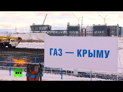Putin launches gas pipeline connecting mainland Russia & Crimea