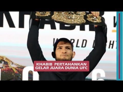 Kalahkan McGregor, Khabib Pertahankan Gelar Juara Dunia Kelas Ringan UFC