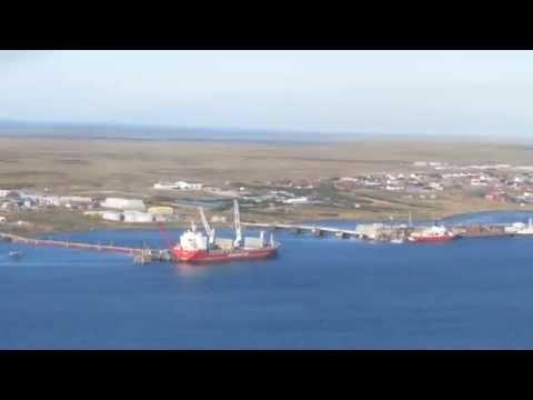 *Aerial Tour of Stanley* FIGAS Britten-Norman BN-2B-26 Islander Departure from Stanley Airport (PSY)