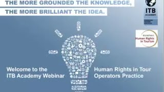 ITB Academy Webinar: Human Rights in Tour Operators Practice thumbnail