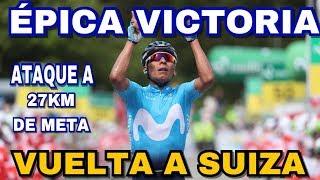 Brutal Ataque De Nairo Quintana Para Ganar La Etapa 7 De La Vuelta A Suiza