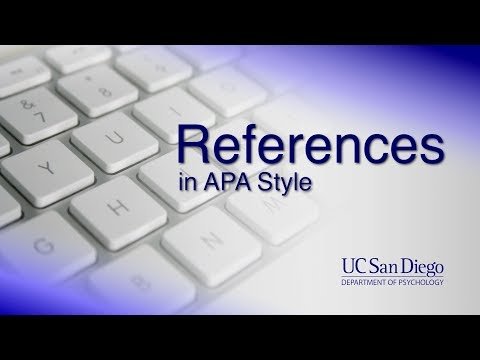 References In APA Style | Writing Research Papers | UC San Diego Psychology