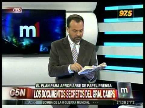 Papel Prensa: Camps revela el plan de apropiación por parte de Clarín y La Nación