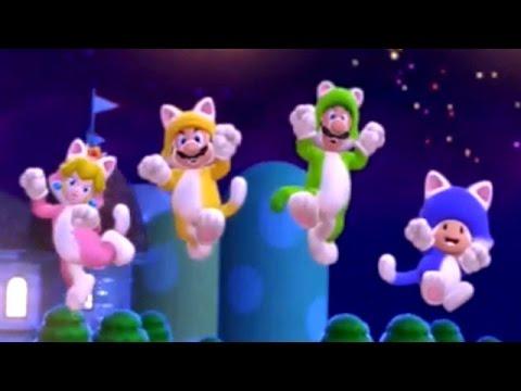 Super Mario 3D World - Full Game Walkthrough (2 Player)