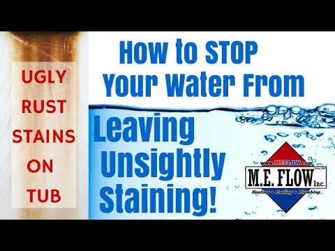 Unsightly Staining From Your Water—A Natural and Low Maintenance Solution