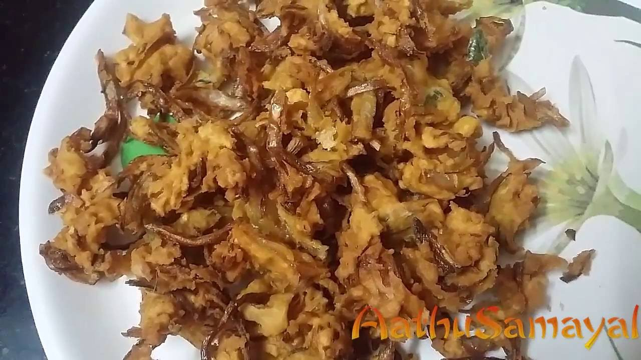 Onion Pakoda Or Onion Pakoda Recipe In Tamil Or Vengaya Pakoda Recipe Snacks Youtube