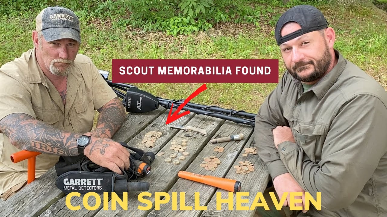 Dirt Fishing Metal Detecting Adventure. This Is Scout Memorabilia and Coin Spill Heaven.
