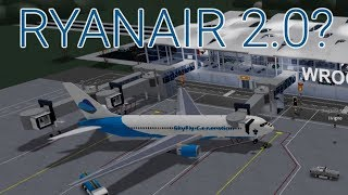 THIS AIRLINE TRIED TO COPY RYANAIR ON ROBLOX (roblox airline review)