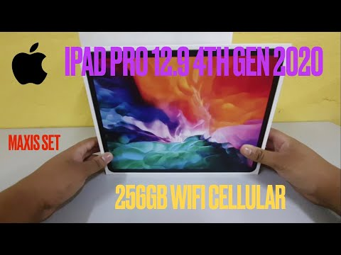 APPLE IPAD PRO 12.9 2020 4TH GENERATION WIFI CELLULAR 256GB DARI MAXIS SET!
