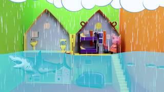 George Pig e Mamãe Pig  chovendo sem parar