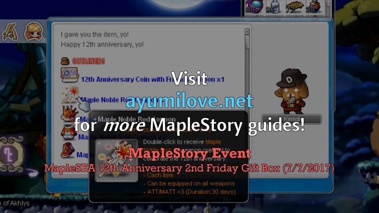 Ayumilove MapleStory MapleSEA 12th Anniversary 2nd Friday Gift Box ...