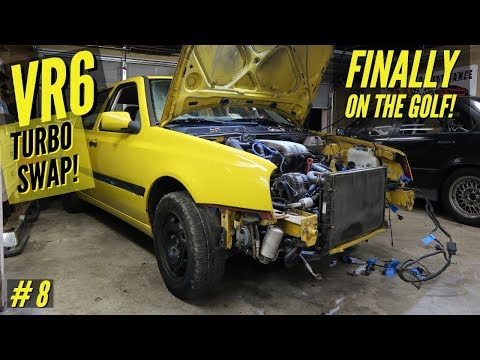 VLOG: MK3 VW VR6 Turbo Swap #8 | The Actual Project Car!