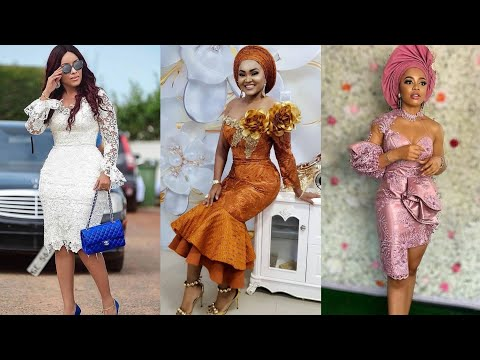 Super Cute African Lace Short Gown Styles# Stylish Aso Ebi Designs# Fashion Gallery