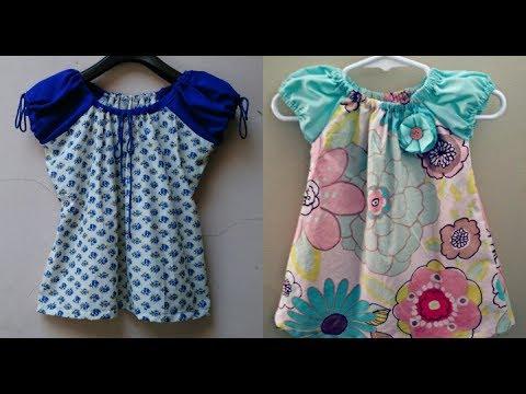 a047d002f Baby jhabla (frock) DIY  how to make baby jhabla frock easy tutorial ...