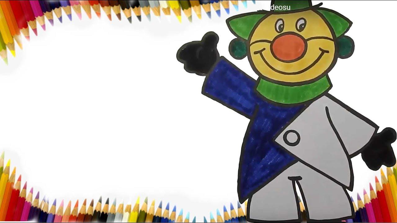 Palyaço Boyama Sayfası Palyaço Boyama Kinder Welt Ds