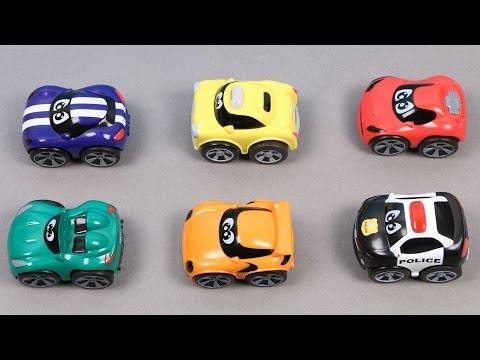 Learn Colors For Kids Children Toddlers Babies With Police Car Taxi Race Car Sports Car