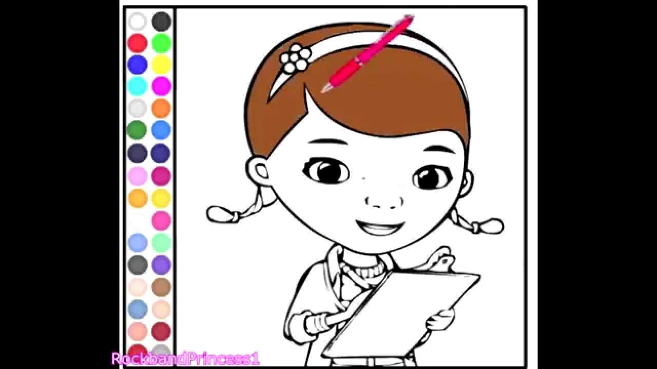 Disney Junior Games Doc McStuffin Coloring Games - YouTube